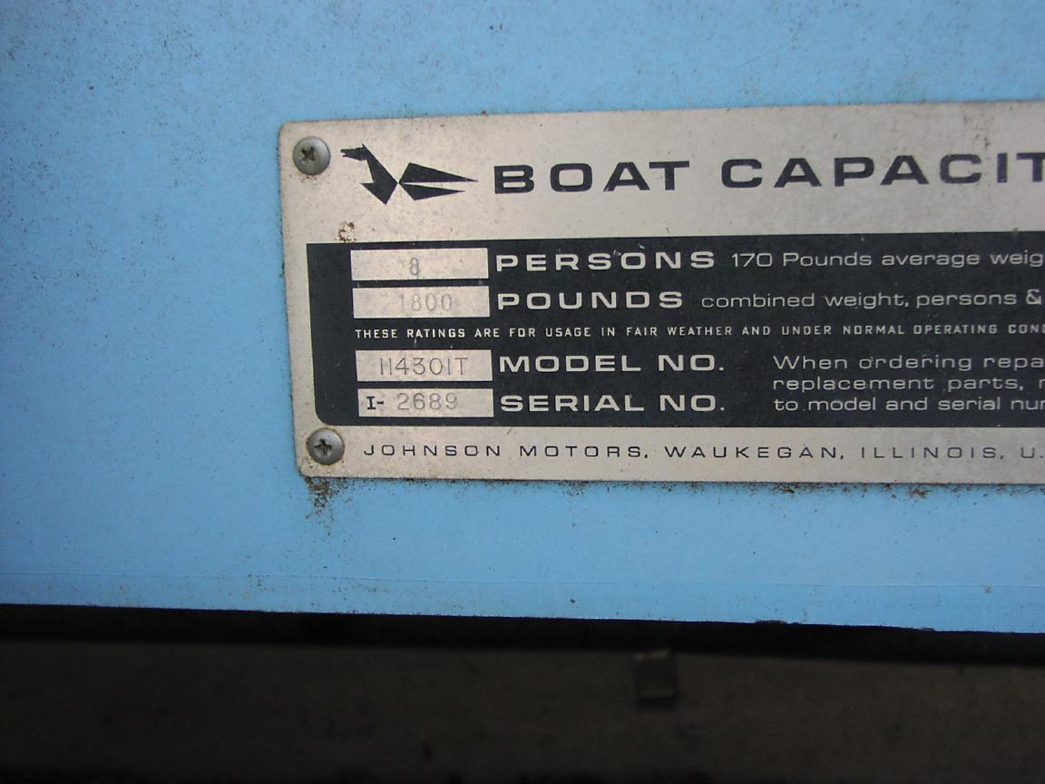 Boat motor serial number lookup for Johnson motor serial number