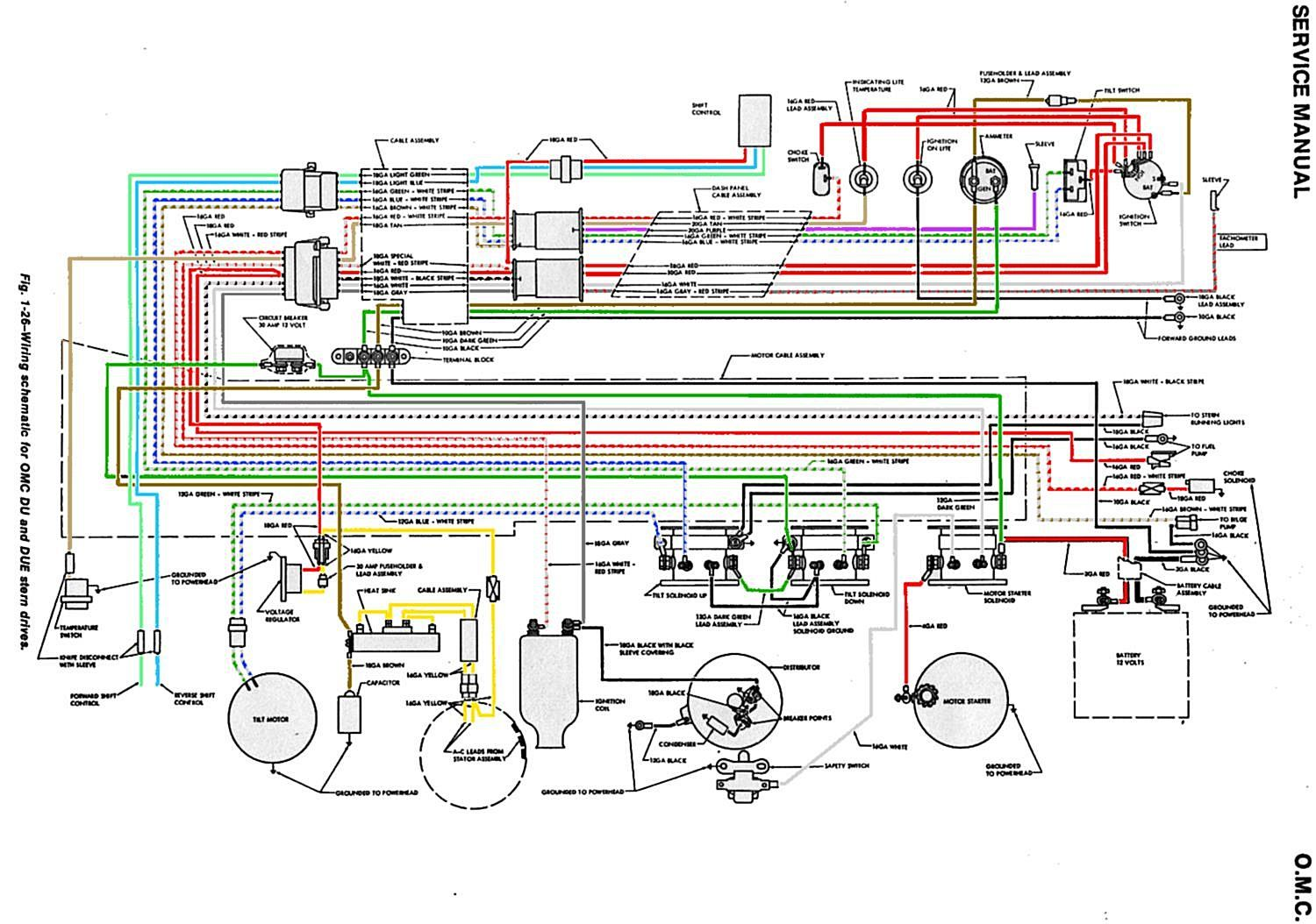 65 68_OMC_Wiring_Schematic 100 [ marine tachometer wiring diagram ] how to install a boat wiring harness at mifinder.co
